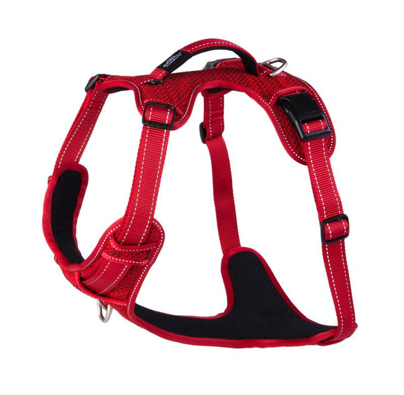 ROGZ Utility Extra Large Lumberjack Explore Harness, Red Reflective