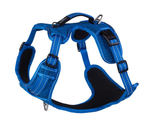 ROGZ Utility Large Fanbelt Explore Harness, Blue Reflective