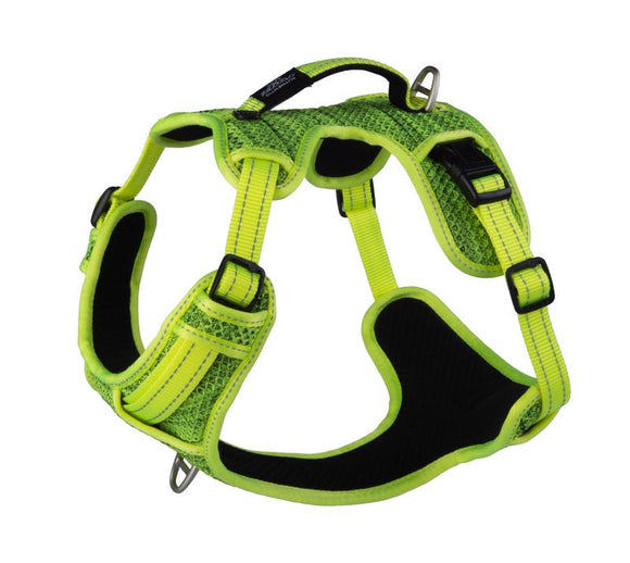 ROGZ Utility Large Fanbelt Explore Harness, Yellow Reflective