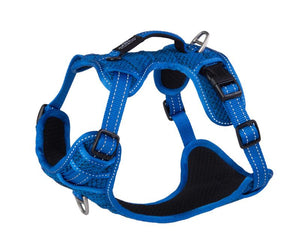ROGZ Utility Medium Snake Explore Harness, Blue Reflective