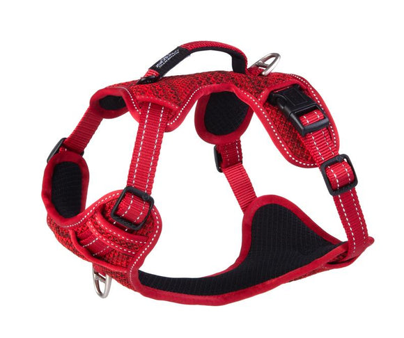 ROGZ Utility Medium Snake Explore Harness, Red Reflective