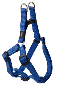 Rogz Utility Medium 16mm Snake Step-in Dog Harness, Blue Reflective