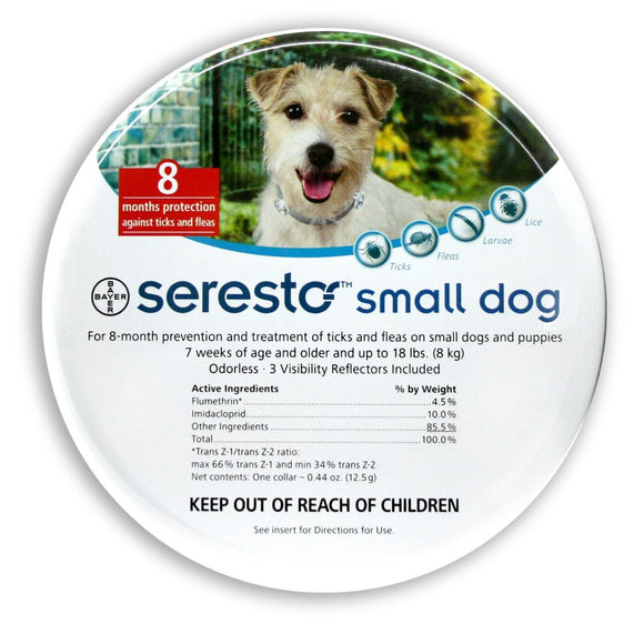 Seresto Flea and Tick Collar for Small Dogs < 8kg