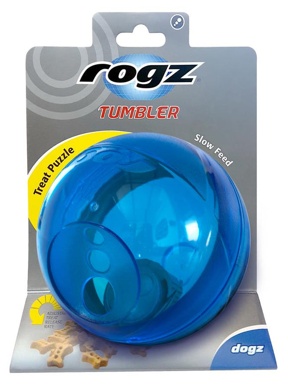 Rogz Tumbler Medium Treat Dispenser, Blue