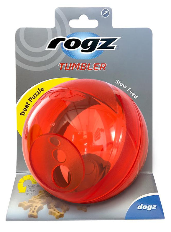 Rogz Tumbler Medium Treat Dispenser, Red