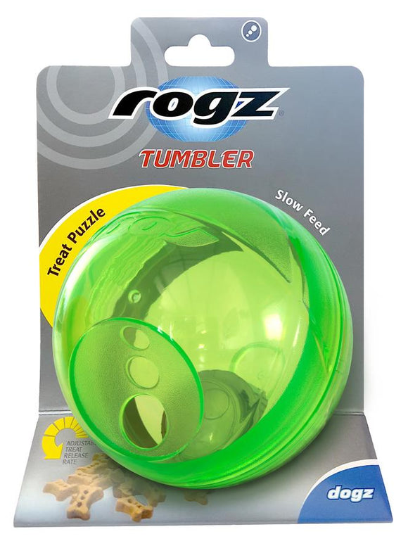 Rogz Tumbler Medium Treat Dispenser, Lime