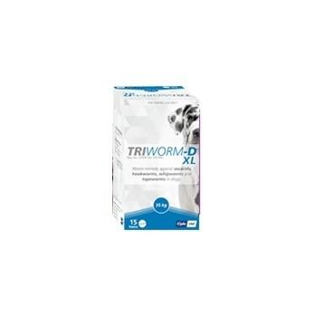 Triworm-D XL Tub Dewormer for Dogs - 15 Tablets