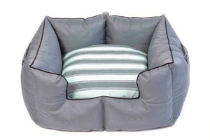Wagworld K9 Castle - Extra Large - Grey and Blue Stripe