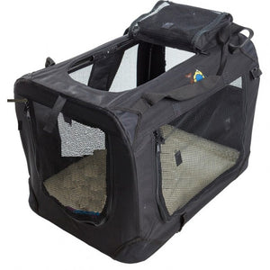 Cosmic Pets Collapsible Pet Carrier - Black - Large
