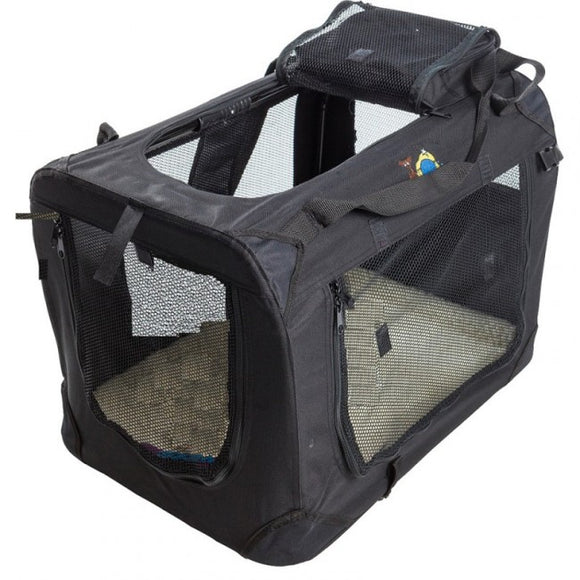 Cosmic Pets Collapsible Pet Carrier - Black - Medium