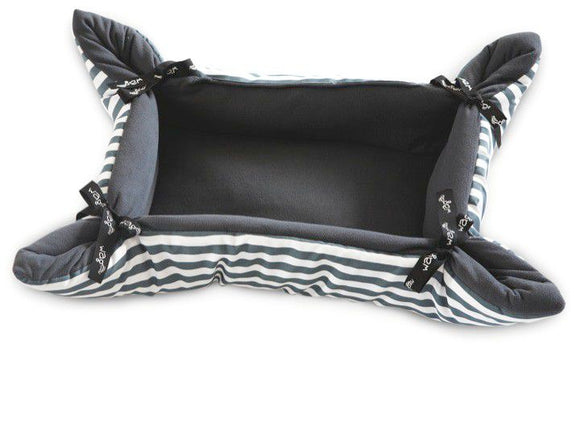 Wagworld Cupcake - Cat Bed - Grey Stripe - Medium