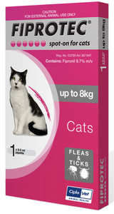Fiprotec Cat 1-8kg Pink (Single)