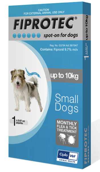 Fiprotec Dog 1-10kg Blue (Single)