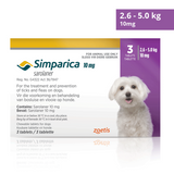 Simparica Chewable Tick and Flea Tablets for Dogs 2.5 - 5kg (Purple - 10mg)