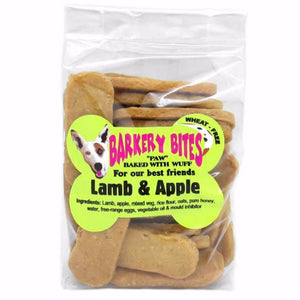 Barkery Bites - Lamb & Apple Dog Biscuits (Wheat Free) 150g
