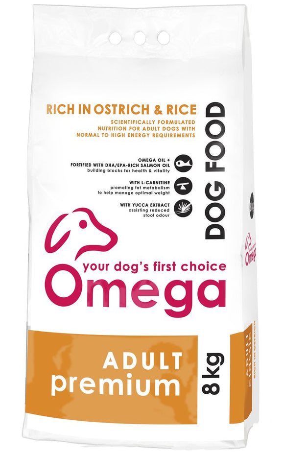Omega Dog Food - Adult Premium 20kg
