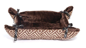 Wagworld Plush Cupcakes - Cat Bed - Camel Geo - Small
