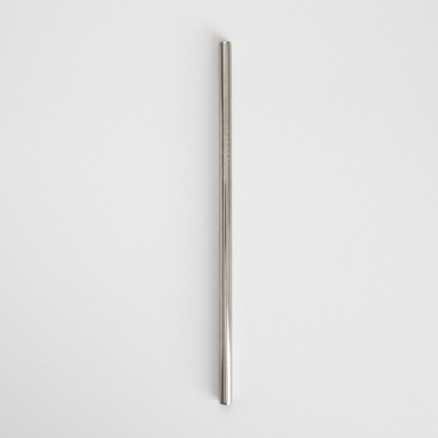 Stainless Steel Smoothie Straw - Silver from Ample + Good
