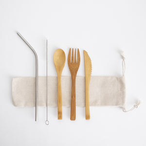 Bamboo Travel Utensil Set from Ample + Good