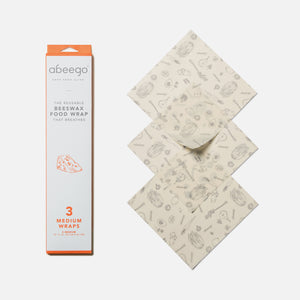 Beeswax food wrap - medium 3-pack from Abeego