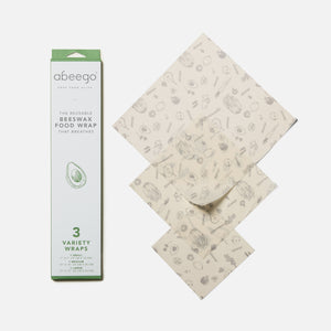 Beeswax food wrap - variety 3-pack from Abeego