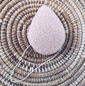 Konjac Facial Sponge - Pink Clay from Bkind