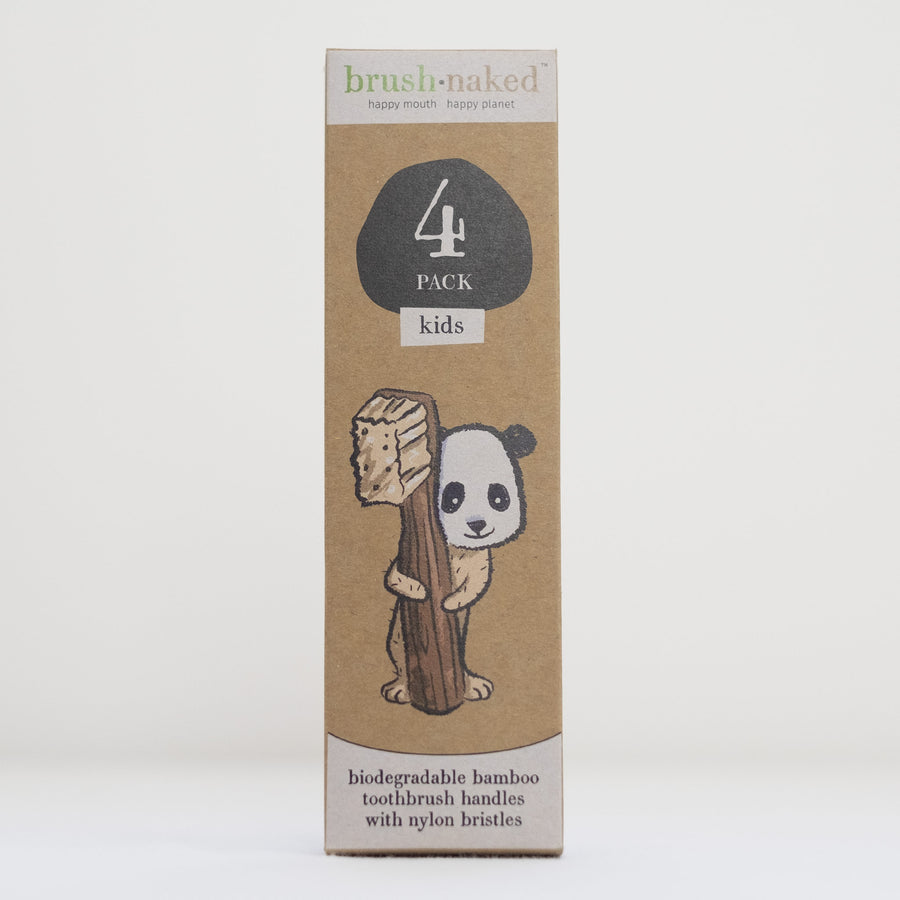 Bamboo toothbrush 4-pack - Kids from Brush Naked