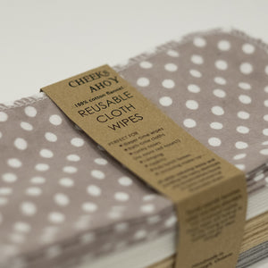 Cloth Wipes (Set of 30) - Pebble Beach from Cheeks Ahoy