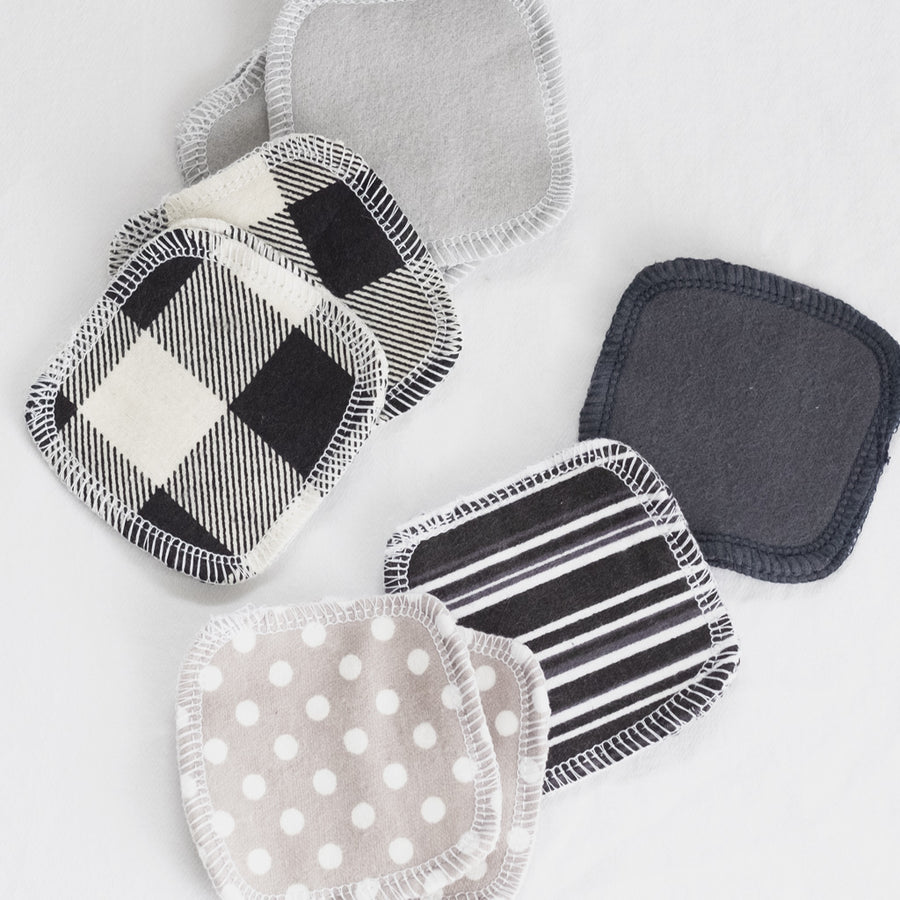 Reusable Cotton Facial Rounds - Monochrome from Cheeks Ahoy