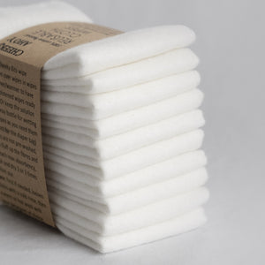 Cloth Wipes (Set of 10) - White from Cheeks Ahoy