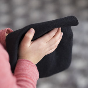 Hemp Cloth Wipes (set of 5) - Black from Cheeks Ahoy