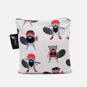 Large Reusable Snack Bag - Beavers from Colibri