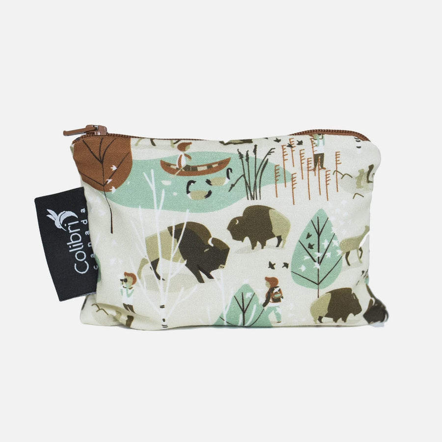 Small Reusable Snack Bag - Nature Walk from Colibri Canada
