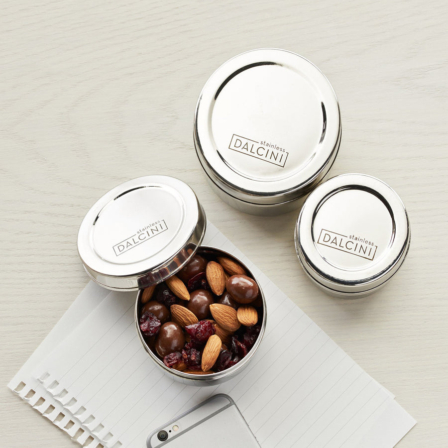 Nesting Snack Containers - set of 3 from Dalcini Stainless
