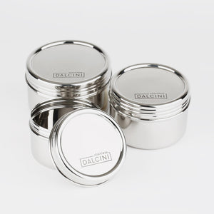 Twist Top Containers - set of 3 from Dalcini Stainless