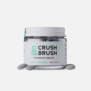 Crush & Brush Toothpaste Tablets - Charcoal Mint from Nelson Naturals