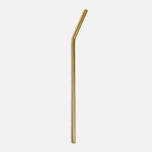 Stainless Steel Straw - Gold