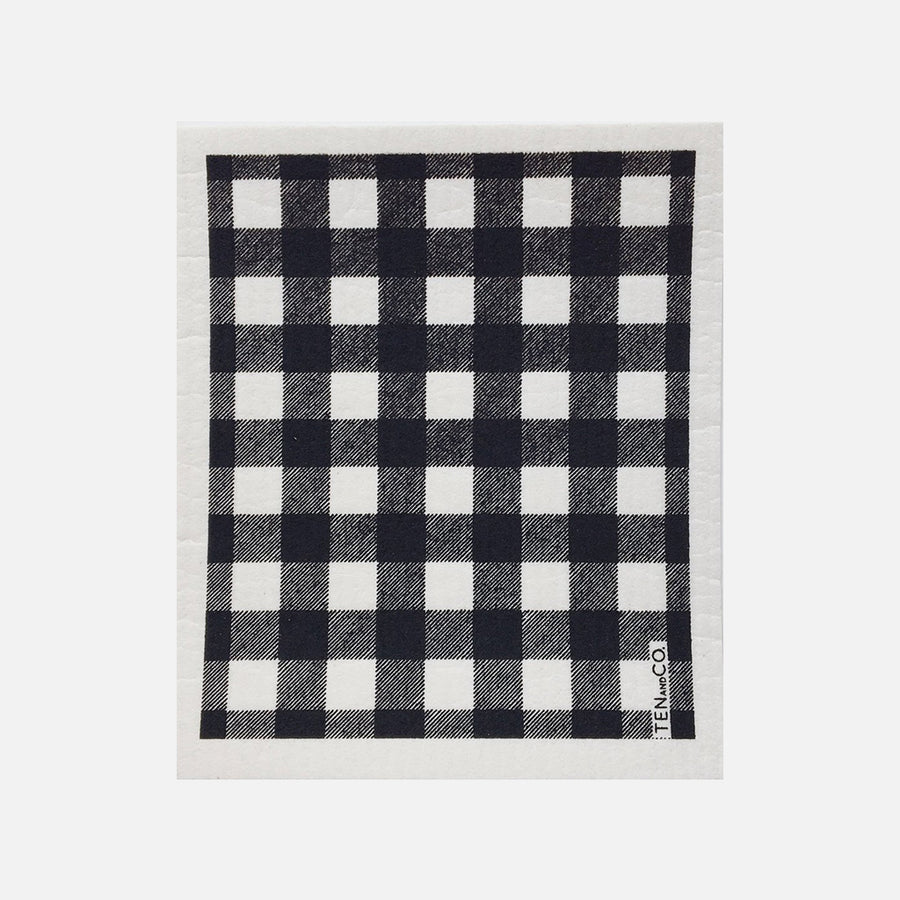 Swedish Sponge Cloth - Buffalo Check from Ten & Co.