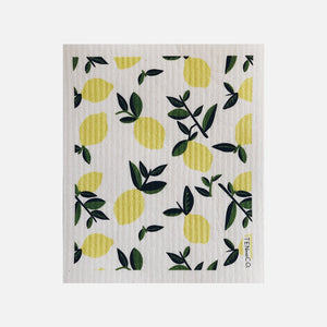 Swedish Sponge Cloth - Vintage Lemon from Ten & Co.