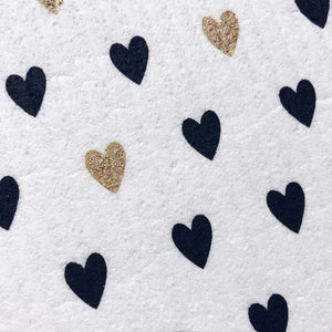Swedish Sponge Cloth - Hearts from Ten & Co.