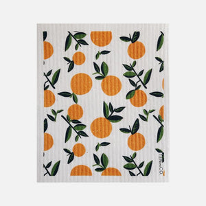 Swedish Sponge Cloth - Citrus Orange from Ten & Co.