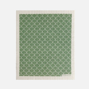 Swedish Sponge Cloth - Sage Scallop from Ten & Co.