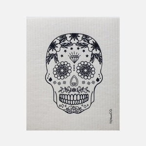 Swedish Sponge Cloth - Skull Black from Ten & Co.