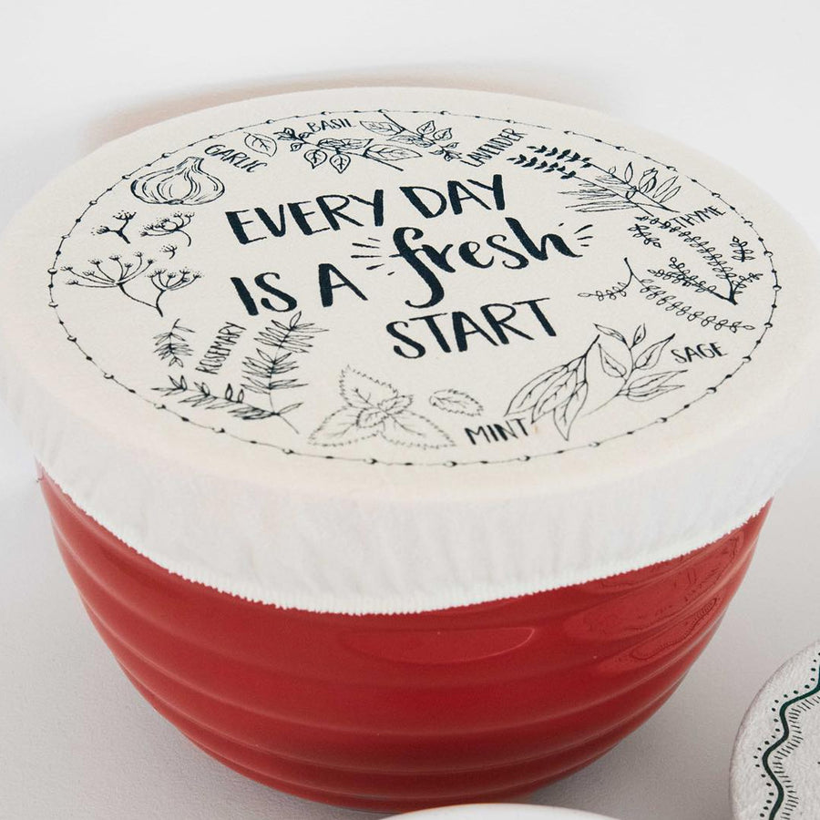 Unwaxed fabric bowl cover - Medium - Every Day from Your Green Kitchen