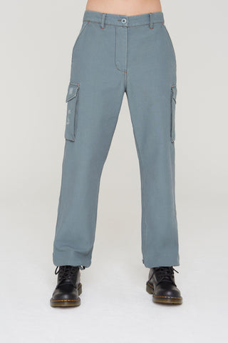 Silas surplus cargo pants in moss teal