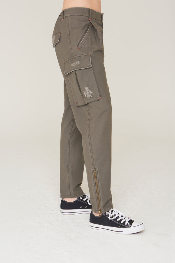 Cooper Cotton Cargo Pant in Olive