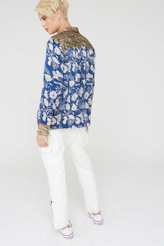 Frankie Silk Shirt In Deco Floral Prints