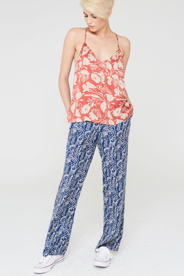 Cora Silk Camisole in Deco Floral Prints