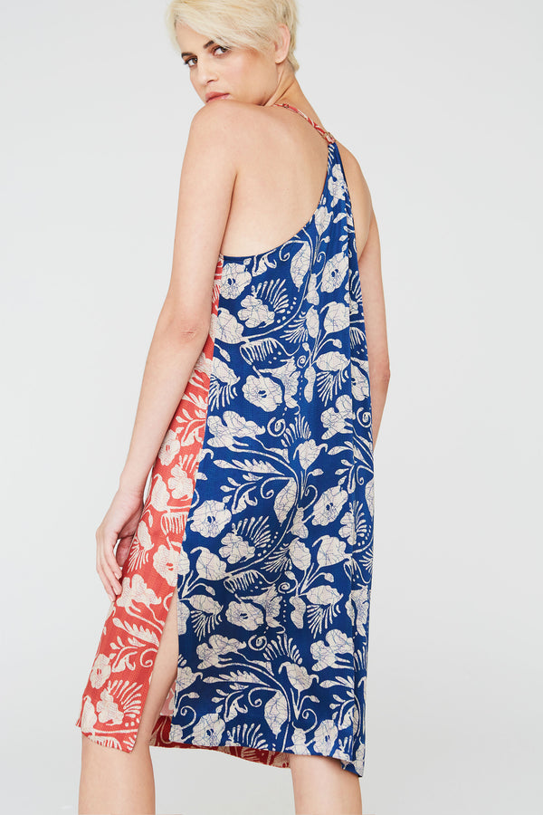 Nova Silk Dress in Deco Floral Prints