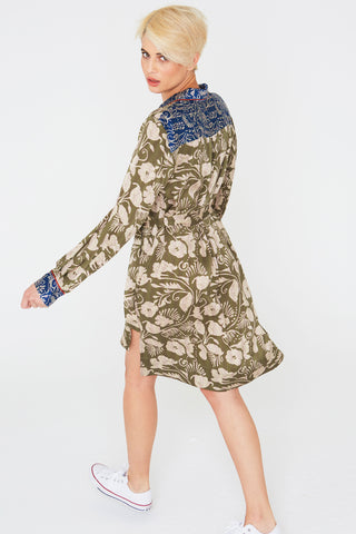 Liv Silk Dress in Deco Floral Prints